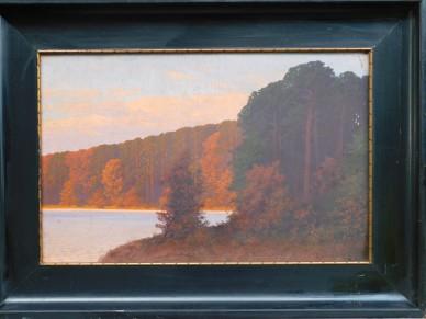 Märkischer See im Sonnenuntergang, Hauptwerk, Rudolf Hellgrewe, 1894