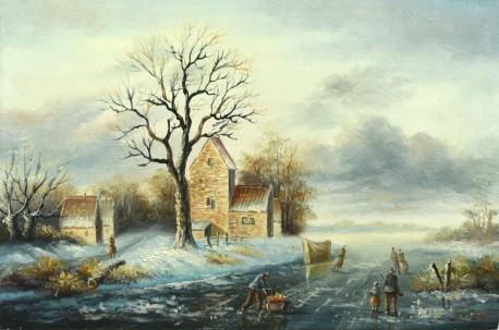 Winterlandschaft am Vorwerk, um 1900