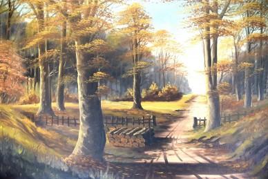 Buchenwald bei Königs Wusterhausen im Herbst, Vinka, 1910