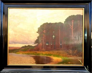 Märkische Seelandschaft, großes Hauptwerk, Rudolf Hellgrewe, 1895