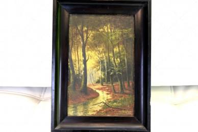 Fluss im tiefen, dunklen Wald, F. Pfenningschmidt, 1910