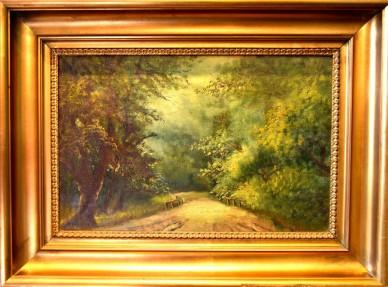 Romantischer Waldweg, Houn, um 1902