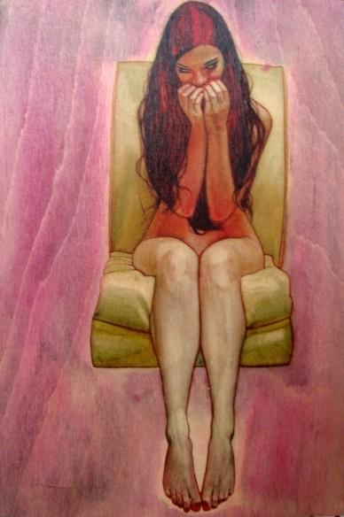 Mädchen im rosa Traum, Akt, Victoria Cox, 2018