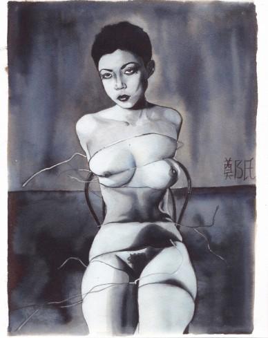 bondage | 束縛 | shibari |約束| nu dessin | shunga | ink  | araki I La Ching Shih, 2018