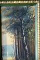 Reisigsammlerin am Ufer des Märkischen Waldsees, Spätromantiker, Öl auf Keramik,1880