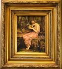 Das Mädchen und die verbotene Schatulle, Jugendstil Motiv