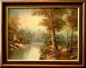 Verträumte Waldlandschaft am Fluss, I. Catman, 1950