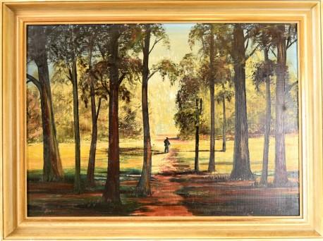 Spaziergänger im Wald, A. Richter, 1902