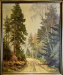 Weg im Wald am Morgen, Ölgemälde, Robert E. SkÅnnstrØm, 1905