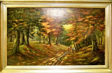 Weg durch den Herbstwald, Josef Augustin, 1953