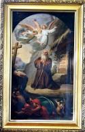 Günther der Eremit zwischen Engeln und Teufeln, Satan, um 1750