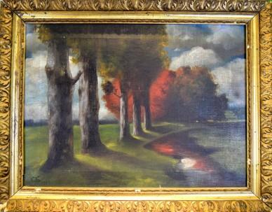 Impressionistisches Landschaftsbild, signiert C.K., 1905