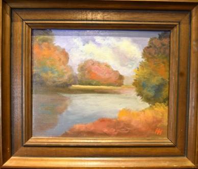 Impressionistische Seenlandschaft, Herbert Hammerschmidt, 1981
