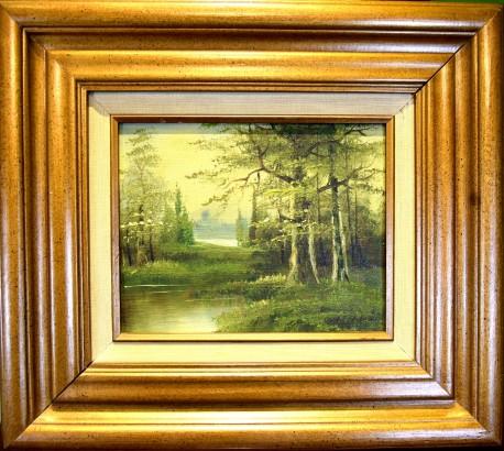 Fluss im grünen Wald, Lindenmann, 1926