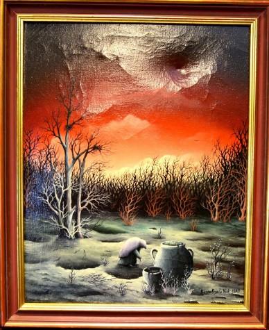 Der Tod - surreale Waldlandschaft, Bojan Bjelo Vuk, 1980