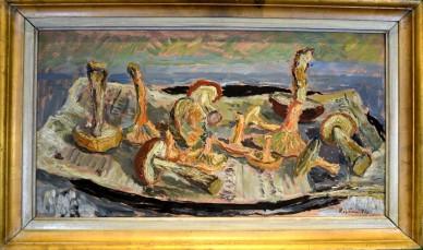 Stillleben mit Pilzen, Sven Olof Rosén, 1941