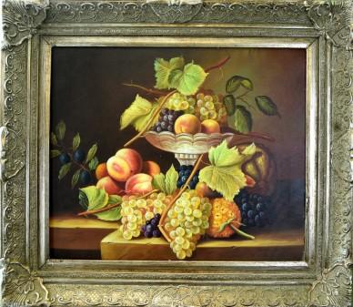 Obst mit Schale, Stillleben, unsigniert, 1933