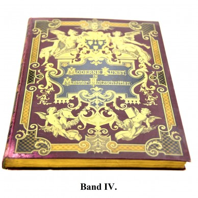 MODERNE KUNST in Meister-Holzschnitten nach Gemälden und Sculpturen berühmter Meister der Gegenwart. III. Band, 1895