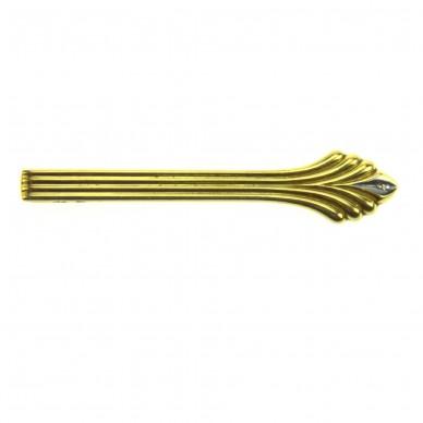 Kravattenhalter mit Brilliant, Gold 585