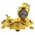 Französische Kaminuhr im Stiel LOUIS XVI, vergoldet
