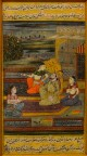 Indische Moghul Miniaturmalerei No. 1, ca. 1920
