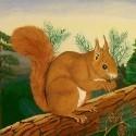 Tiere, Jagd, Eichhörnchen, Hirsch, 動物 - KUNST ZUM MIETEN, LEIHEN