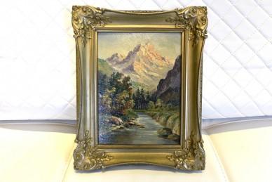 Romantischer Fluss am Berg, Lorenz, 1899