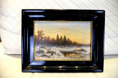 Winterliche Moorlandschaft, August von Rüdt, 1896
