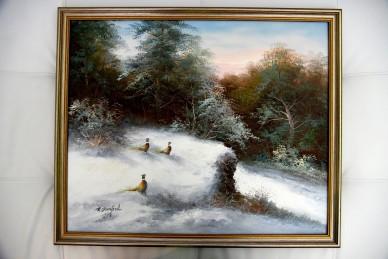 Fasane im Schnee, R. Danford, 1921