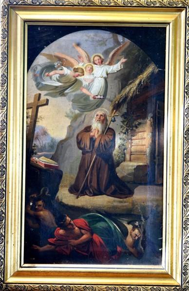 Eremit zwischen Engeln und Teufeln, Satan, um 1750