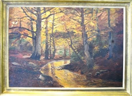Bachlauf im Herbstwald, Ruth Uhlmann, 1915