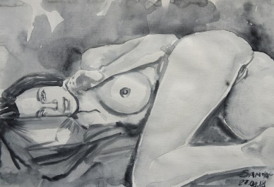 nude female obsession, Samia, 2018