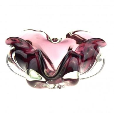 """Violet Swirl"" Murano Glas Schale (Handarbeit)"