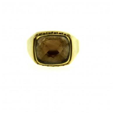 Herren Gold Ring mit Rauchtopas, 8 kt./333